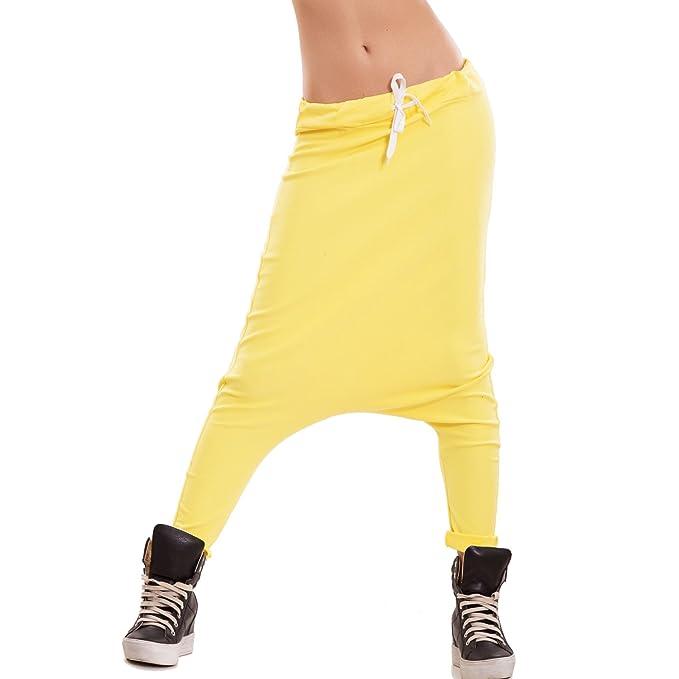 f5362b0023d7 Toocool - Pantaloni Donna Tuta Cavallo Basso Turca Harem Sarouel Elastico  Sport CJ-2502 [Taglia Unica,Giallo]: Amazon.it: Abbigliamento