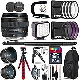 Canon EF 85mm f/1.8 USM Lens + 0.43X Wide Angle Lens + 2.2x Telephoto Lens + LED Kit + Stabilizing Handle + UV-CPL-FLD Filters + Macro Filter Kit + 72 Monopod + Tripod - International Version
