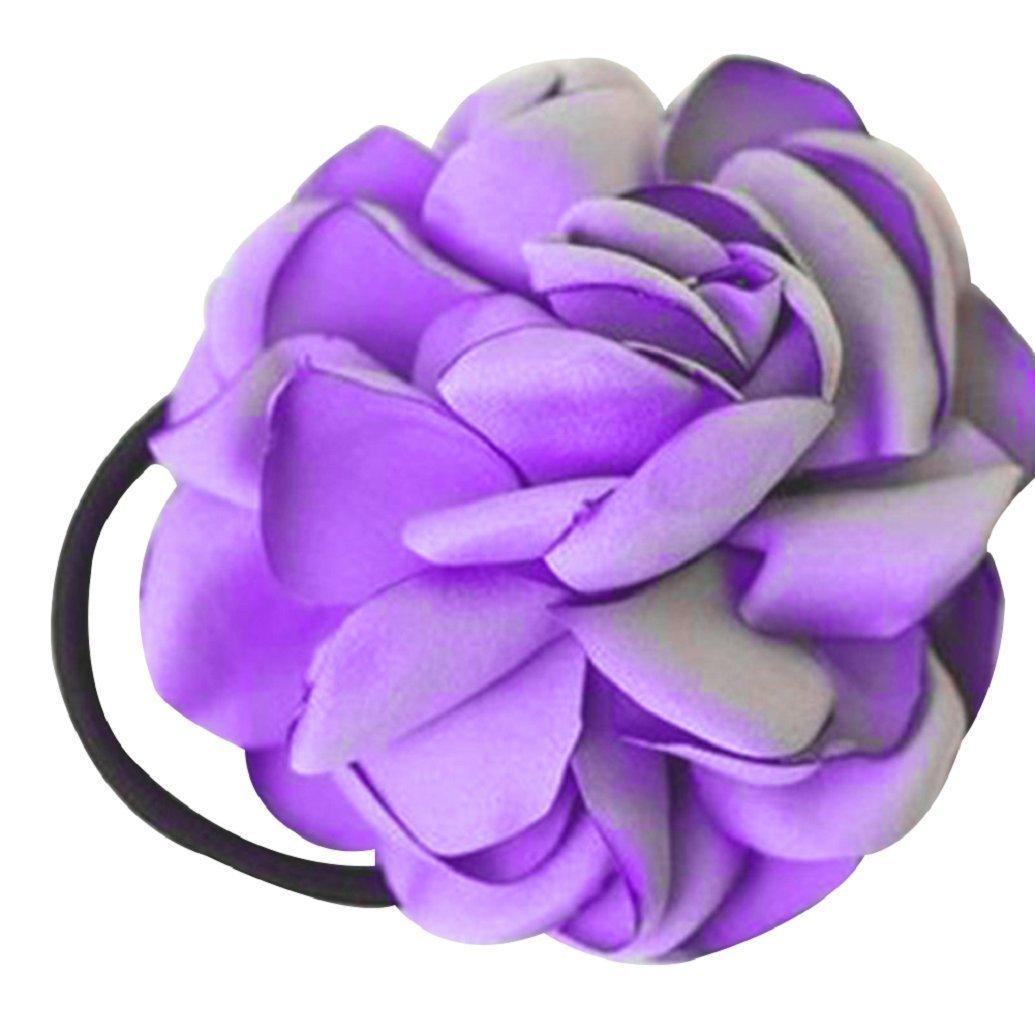 Elastico per capelli Gemini _ Mall elegante per donna, fascia per capelli, corda elastica con fiore, per la coda di cavallo, accessorio per capelli Gemini_mall