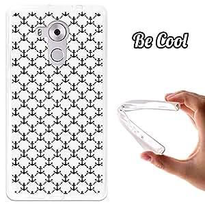 BeCool® - Funda Gel Flexible Huawei Mate 8 Anclas Marineras Carcasa Case Silicona TPU Suave