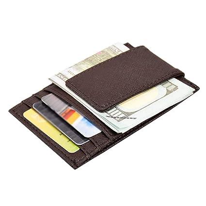 8f867d9b17d9d9 Ploekgda Porta Carte di Credito in Pelle Unisex Porta Carte di Credito Mini Porta  Carte di