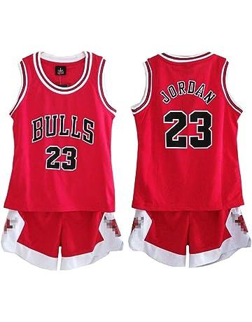 a4c082a19bc Daoseng Kid Boy Mens NBA Michael Jordan #23 Chicago Bulls Basketball shorts  Summer Jerseys Basketball