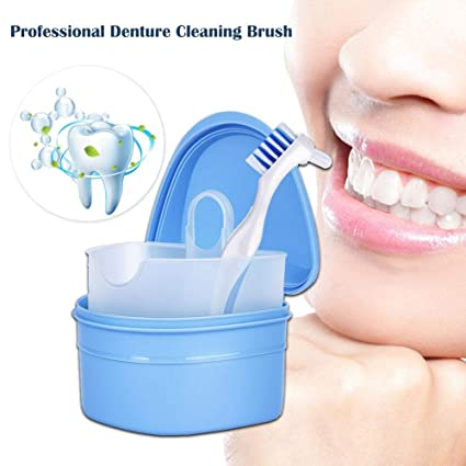 Cepillos Para Dentadura Cepillo de dentadura Recipiente de retención ...