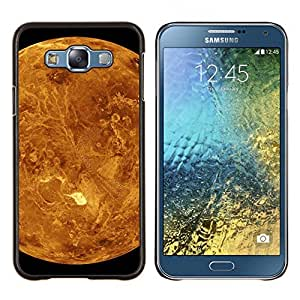YiPhone /// Prima de resorte delgada de la cubierta del caso de Shell Armor - Planeta Rojo Marte Amarillo Cráteres Paisaje Vista - Samsung Galaxy E7 E700