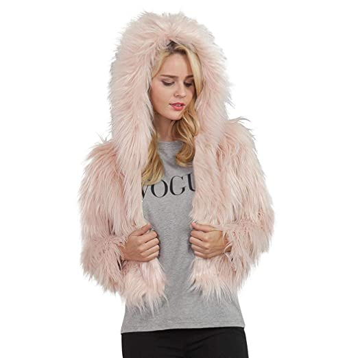 Tiowea Fashion Winter Warm Women Casual Long Sleeve Artificial Fur ... 7099f7485