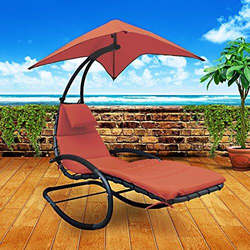 Amazon.com: SUN LOUNGER U2013 CHAISE LOUNGE CHAIR PATIO BACKYARD OUTDOOR  FURNITURE   BONUS ROCKING FEATURE: Garden U0026 Outdoor
