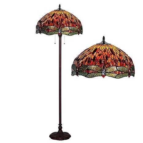 Lámpara de Pie Estilo Tiffany, Luces de Piso de Vidrieras de ...
