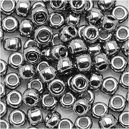 Toho Round Seed Beads 15/0#711 - Nickel (8 Grams)