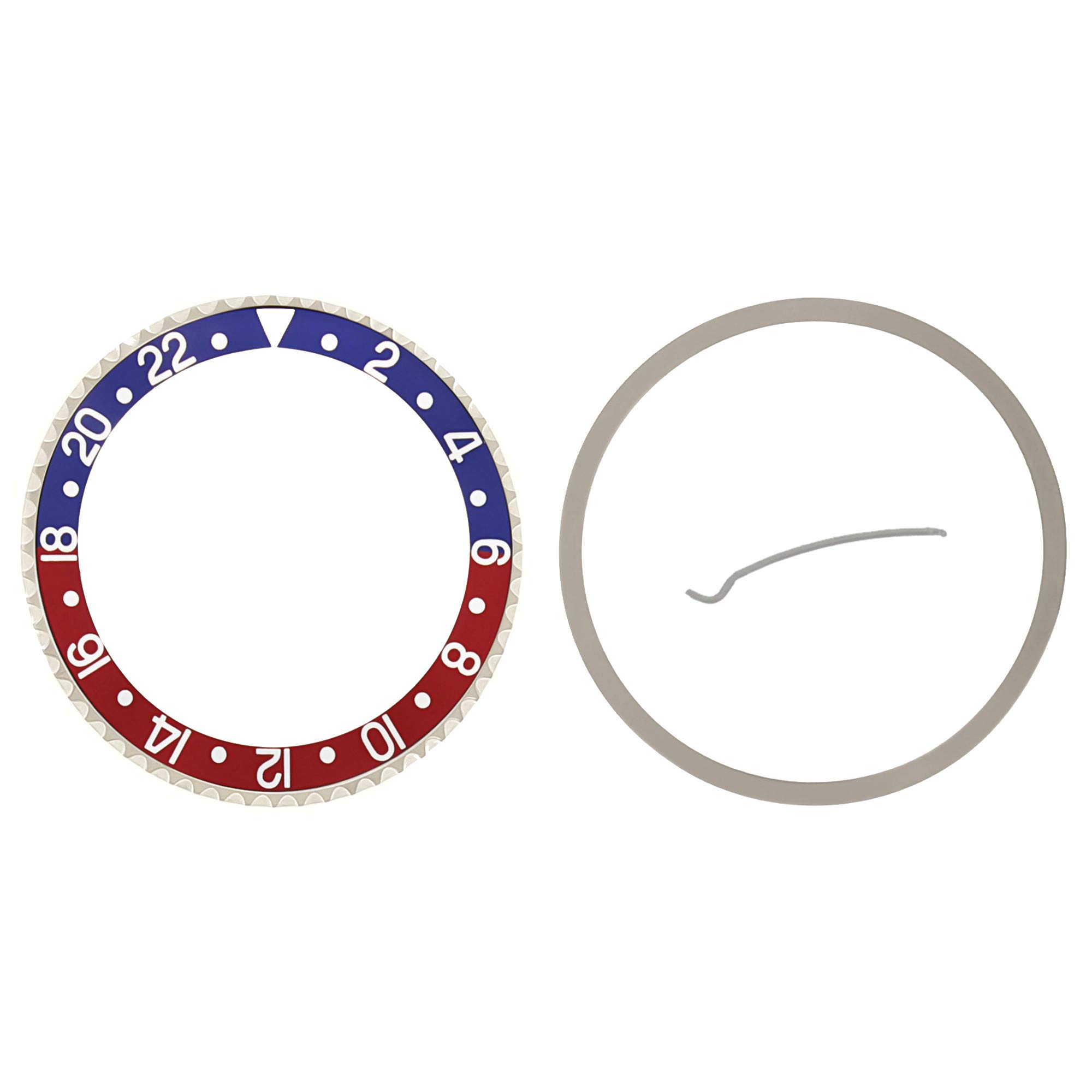 PEPSI BEZEL & INSERT FOR ROLEX GMT MASTER I, II BLUE/RED 16700 16710 SAPPHIRE by Ewatchparts