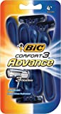BIC Comfort 3 Advance Disposable Razor, Men, 4-Count (Pack of 6)