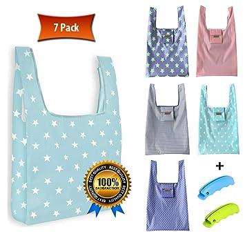JUMBAG - Bolsas de la compra plegables (7 unidades, 5 bolsas ...