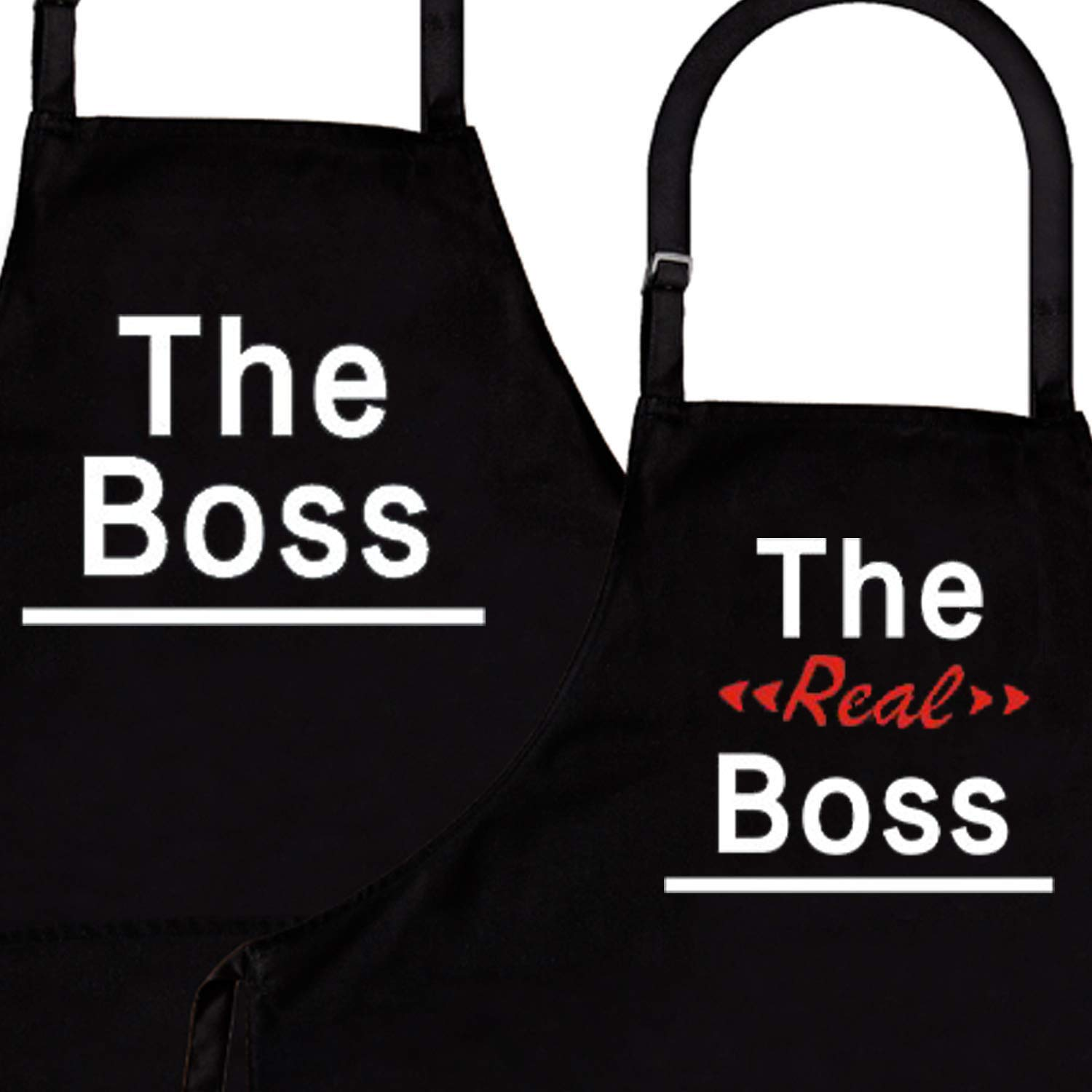 Newly Married Presents Wedding Gifts for The Couple Unique IDOXE The Boss /& The Real Boss Aprons Wedding Engagement Gift for Couples Bridal Shower Matching Aprons Anniversary Gift for Bride