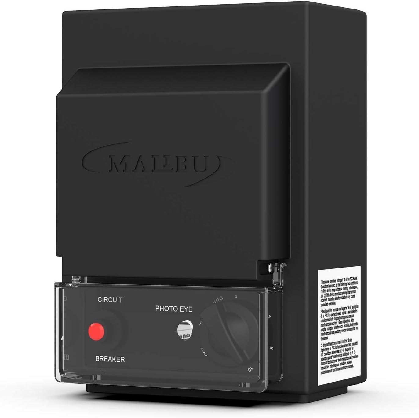 Malibu 3100-1120-01-120 Watt Low Voltage Power Pack Transformer, w/Photo Eye Sensor and Timer, Black Matte