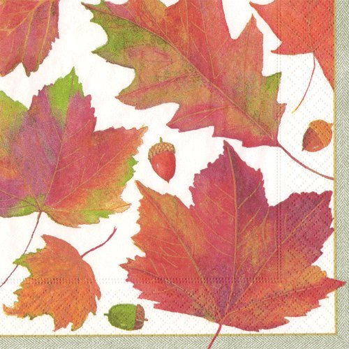Cocktail Napkins Fall Party Ideas Fall Wedding Thanksgiving Dinner Paper Napkins Leaves Pk 40 by Caspari