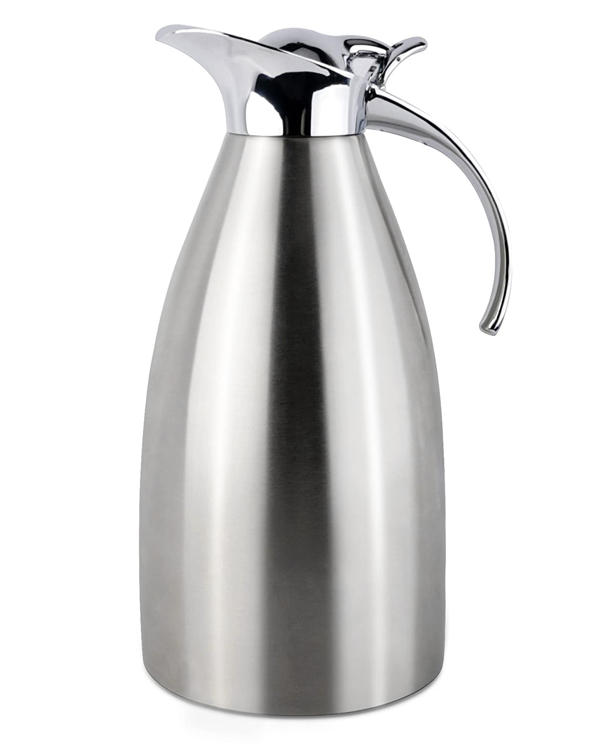 Panesor Thermal Coffee Carafe Double Walled Vacuum Insulated, 68 Oz Hot Coffee Pitcher