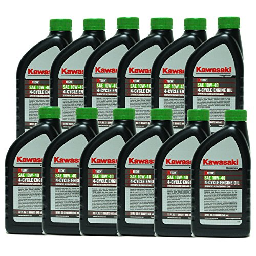 12PK Genuine OEM Kawasaki 10W40 Motor Oil Quart 4-Cycle K-Tech 99969-6296