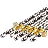طول البرغي T8 100 ملم - 950 ملم مع عصا نحاسية متعددة الأطوال اختيارية للطابعات ثلاثية الأبعاد