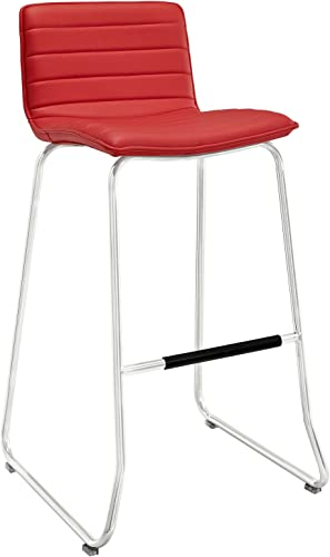 Modway Dive Bar Stool in Red