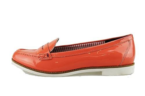 Tommy Hilfiger Mocasines de Charol Para Mujer Rojo Coral Rojo Size: 39 EU: Amazon.es: Zapatos y complementos