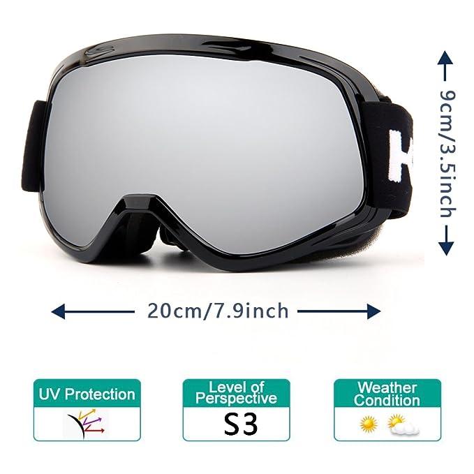 2ef493a2f4cb Amazon.com   Kasliny Ski Goggles