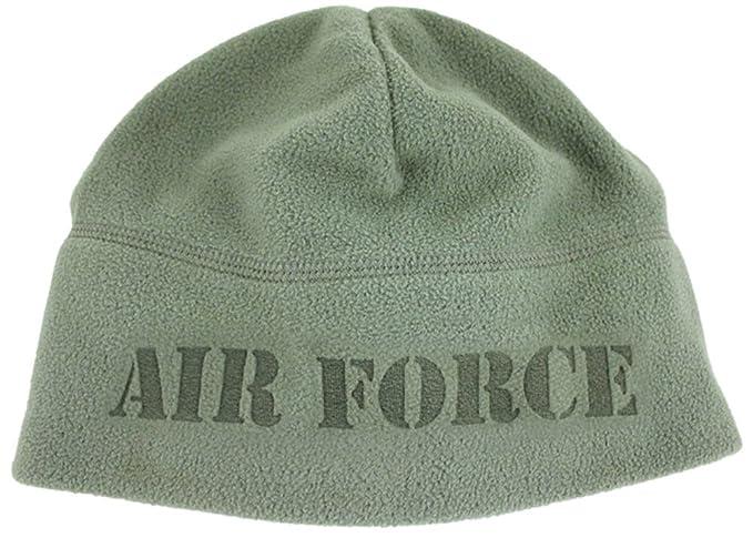 Amazon.com  U.S. Air Force fleece knit beanie cap. OD Green  Clothing ed36aff2080