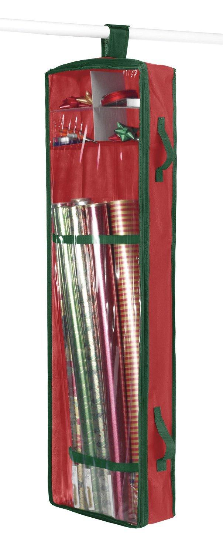 Wonderful Cupboard Hanging Gift Wrap Storage Christmas Wrapping Paper Holder Organizer