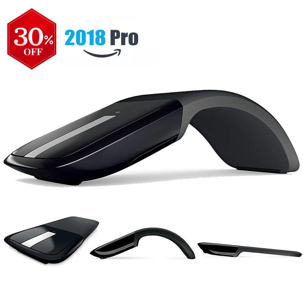 Wireless Foldable Mouse with USB Receiver for PC Laptop MacBook Surface POSEITUN C01