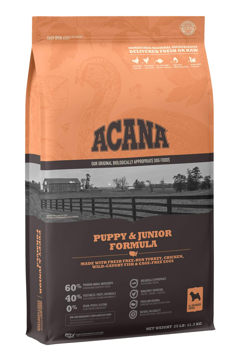 ACANA Heritage Dry Dog Food, Puppy & Junior, Biologically Appropriate & Grain Free by ACANA