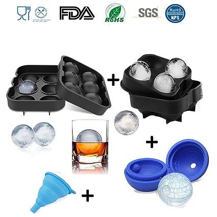 Moldes de silicona para cubitos de hielo, bandejas de cubitos de hielo 3D de grado