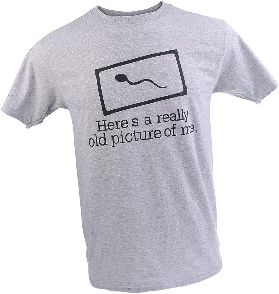 Baoblaze Slogan T-shirt Tee Sperm AQUÍ ES UNA IMAGEN REALMENTE ANTIGUA DE MÍ Camiseta Divertida: Amazon.es: Ropa y accesorios
