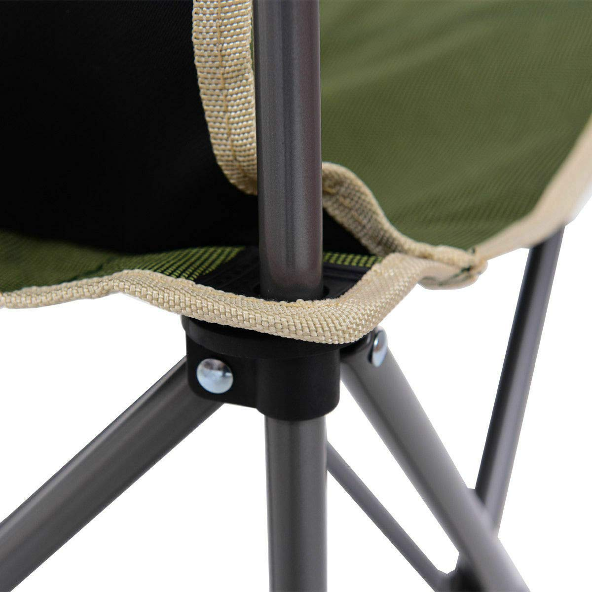 ANA Store Enjoy Barbecue Party Curl Stand Iron Stell Frame Green Oxford Portable Folding Table Chairs Set Inside Outside Camp Beach Picnic with Carrying Bag by ANA Store (Image #9)