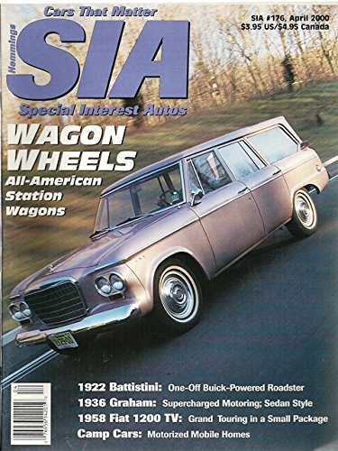 2000 00 March / April Special Interest Autos Magazine, Number # 176 (Drive Reports: 1963 Studebaker's Wagonaire / 1936 Grahm Supercharger / 1958 1200 TV Convertible)
