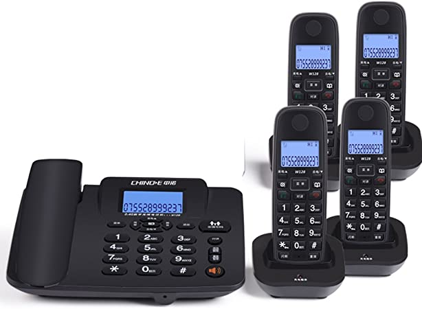 Teléfono teléfono inalámbrico Digital casa de la Oficina Máquina de Asiento de teléfono Fijo inalámbrico Madre Máquina uno para uno a uno Arrastrar Dos Llamadas Manos Libres: Amazon.es: Hogar