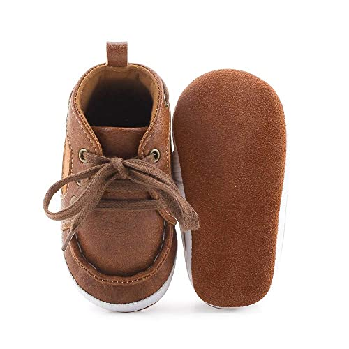 6a4e4fdcb4cba Delebao Baby Boys Girls First Walkers Lace Up Shoes Fashion Sneakers