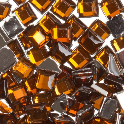 Zink Color Nail Art Acrylic Rhinestone Brown Square 100 Piece Embellishment (Dark Foam Glaze)