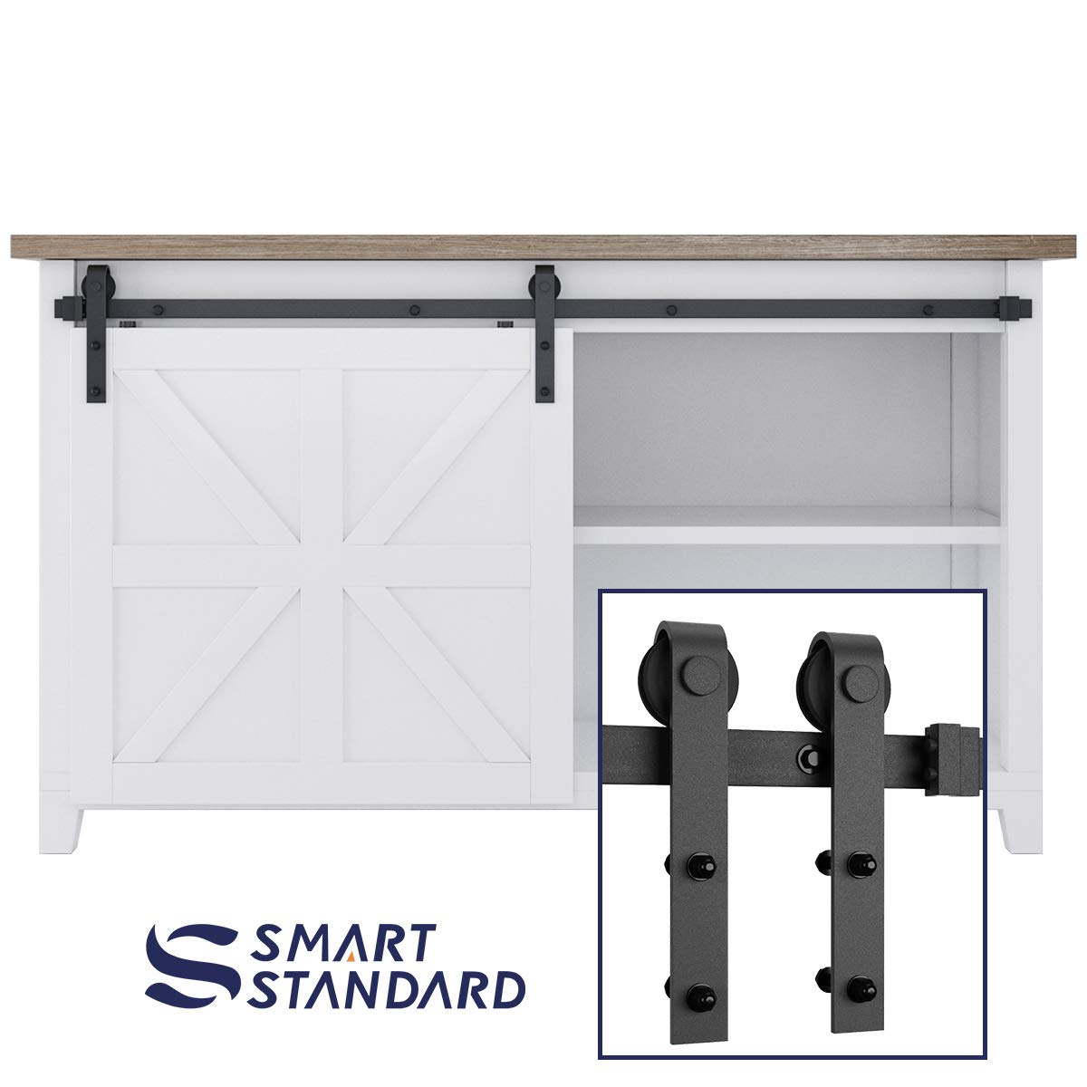 Amazon Smartstandard 5ft Mini Sliding Barn Door Hardware Kit
