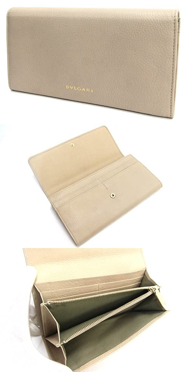 e7ba20495e91 Amazon.co.jp: BVLGARI(ブルガリ) 二つ折り長財布 モネーテ 34718 プードルベージュ レザー 新品 未使用 コイン  BVLGARI [並行輸入品]: 服&ファッション小物