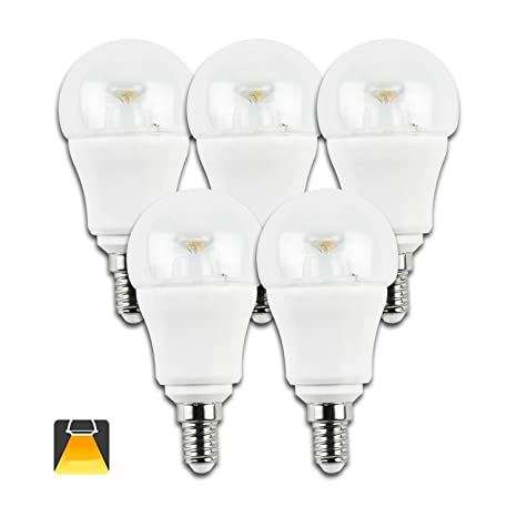 Aigostar - 182991 - pack de 5 bombillas led c5 p45b de 6 watios, casquillo