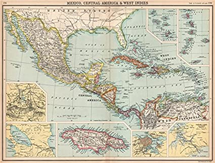 Amazon.com: MEXICO CENTRAL AMERICA WEST INDIES. Panama & Proposed ...