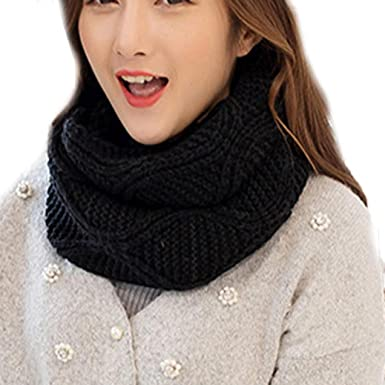 3c329181cbe Sonnena Winter Warm Chunky Knitted Infinity Snood Scarf Scarves Circle  Scarves for Women Girls Ladies