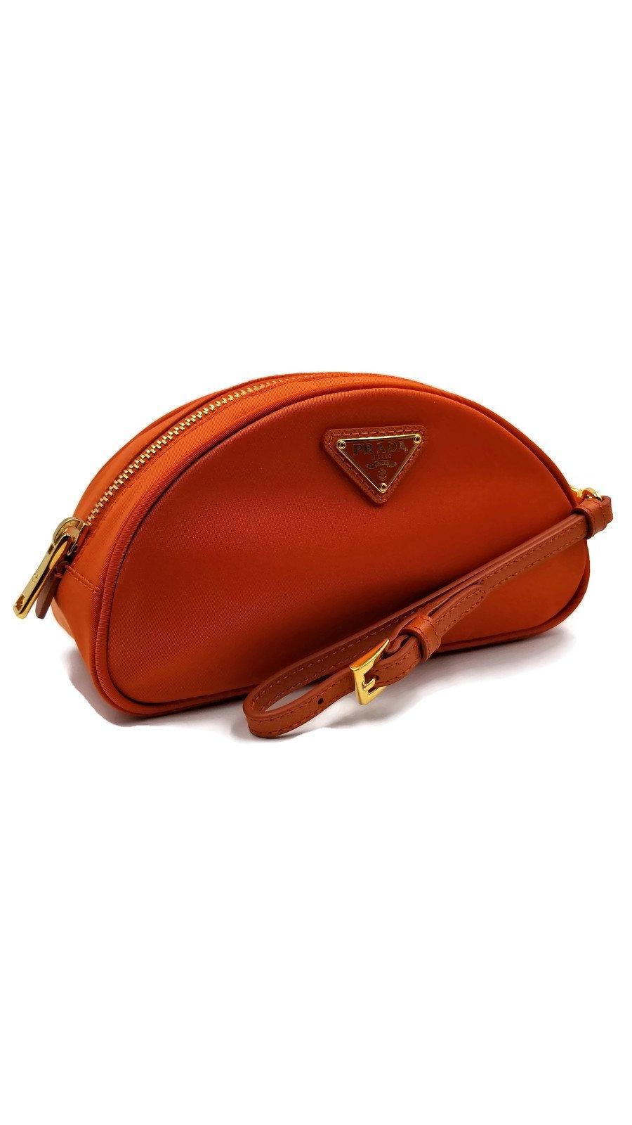 Prada Nylon and Saffiano Leather Cosmetic Case