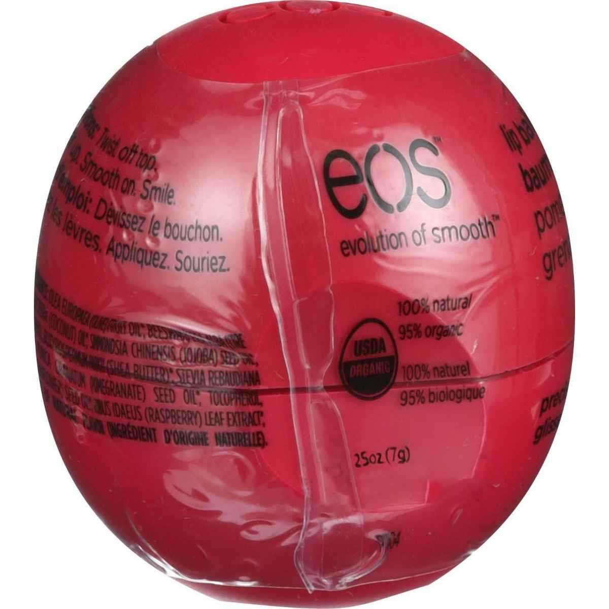 EOS Pomegranate Raspberry Smooth Sphere Lip Balm, 0.25 Ounce - 8 per case.