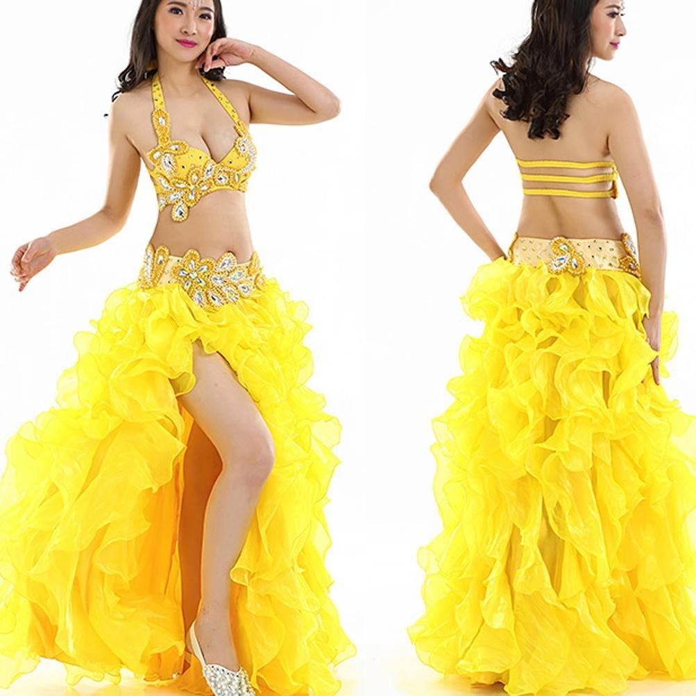 MoLiYanZi Bauchtanz Set Für Frauen Performance Kostüm Kostüm Kostüm Professionel Tanz-Outfit 6 Stück B07BDPHY71 Bekleidung Ausgezeichneter Wert 21c738