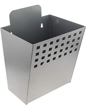 PrimeMatik - Contenedor metálico para Montaje en Pared. Buzón para revistas y periódicos. Color