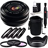 Fujifilm 18mm f/2.0 XF R Lens + 52mm 3 Piece Filter Set (UV, CPL, FL) + 52mm +1 +2 +4 +10 Close-Up Macro Filter Set with Pouch Bundle 2