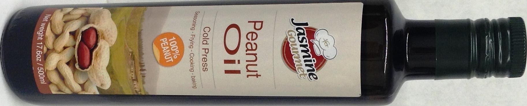 Jasmine Gourmet 100% Peanut Oil Cold Press KFP 17.6 Oz. Pack Of 6.