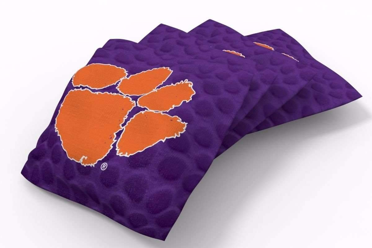 PROLINE 6x6 NCAA College Clemson Tigers Cornhole Bean Bags - Pigskin Design (A)