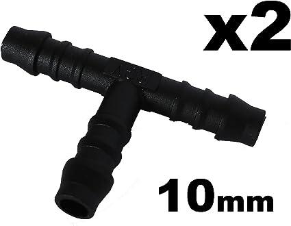 Au/ßendurchmesser 18mm Schlauchverbinder Kunststoff T-St/ück x2 F/ür Schl/äuchen