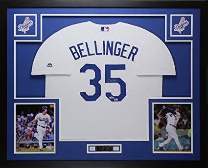 Cody Bellinger Autographed White Dodgers Jersey - Beautifully Matted ...