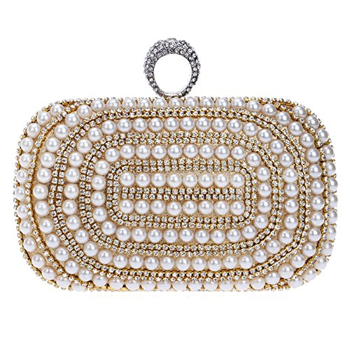 1 held Handbags Nightclubs Women's HKC Pearl Dresses Evening Luxury Hand Bag Ladies Evening Banquet TwvOx4wq